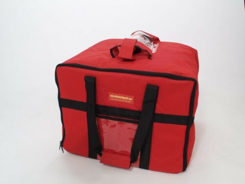 Basket Lunch Picnic Food Folding Thick Insulated Cooler Camping Bag Red .