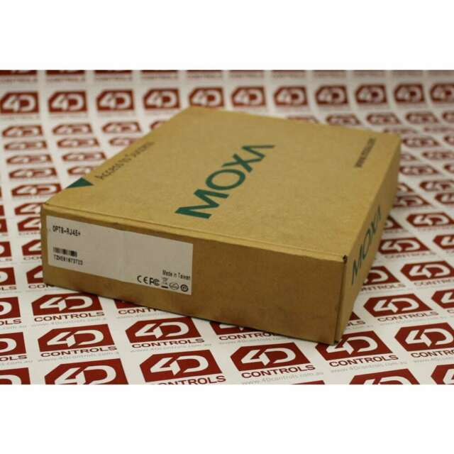 Moxa OPT8-RJ45+ 8-port RS-232 connection box - New Surplus Open