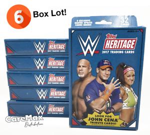 2017 Topps Heritage WWE Wrestling Hanger Box (6 box lot!)