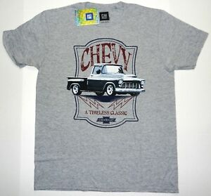 New-GM-Chevy-Tee-Timeless-Classic-Truck-Chevrolet-Men-039-s-Vintage-Throwback-shirt