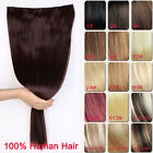 Premium Long Thick Clip In Hair Extensions One Piece 100% Remy Human Hair 20""