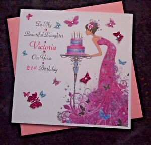 Image Is Loading Handmade Personalised Birthday Card Daughter Granddaughter Niece 18th