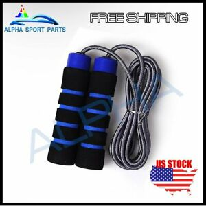 Jump Rope Speed Skipping Crossfit Workout Gym Aerobic Exercise Boxing