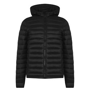 SoulCal Mens Micro Bubble Jacket Padded Coat Top Long ...