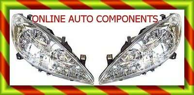 Peugeot 307 PAIR OF Headlights Headlamps head Light Lamp NEW NO FOG LEFT RIGHT