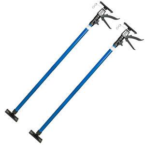 2x Etai télescopique support barre tiges traverse de plafond set 115-290cm 30kg