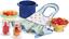 thumbnail 2 - American Girl KIT'S PRODUCE & PRESERVES Jars Strainer Tomatoes Peaches Bow Apron
