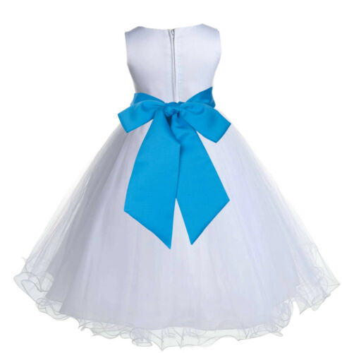 FORMAL FLOWER GIRL DRESS WEDDING BRIDAL GOWN BIRTHDAY RECITAL PAGEANT PRINCESS