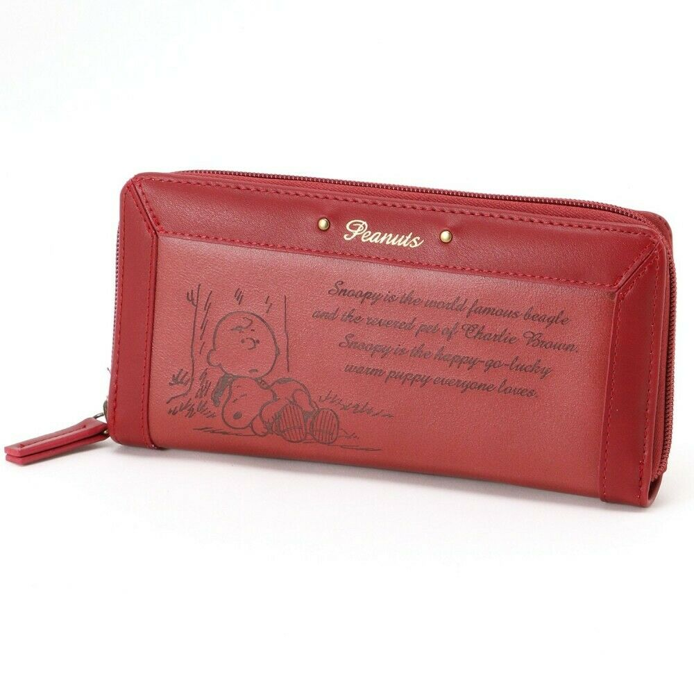 PEANUTS SNOOPY Charlie Long Wallet Card Coin Case Zip Purse Gift Japan E6112