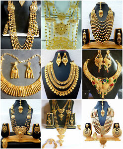 Necklace-22K-Gold-Plated-Indian-Designer-Variation-Necklace-Earrings-party-Set-g