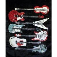 guitars Regal Comfort Medium Weight Faux Furtm Blanket