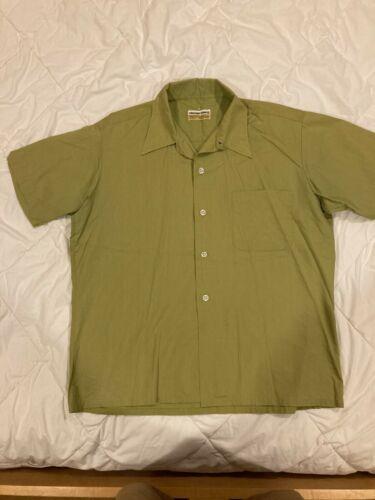 Vintage Chartreuse Color Loop Collar Short Sleeve… - image 1