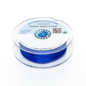Nylon-Satin-Band-1mm-blau-5m-Spule-Makrameeband-Schmuckkordel-Nylonschnur