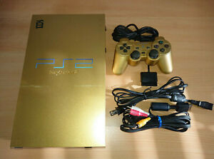 Console-PS2-Gold-Limited-Edition-Hyaku-Shiki-Mobile-Suit-Z-Gundam-sony-rare