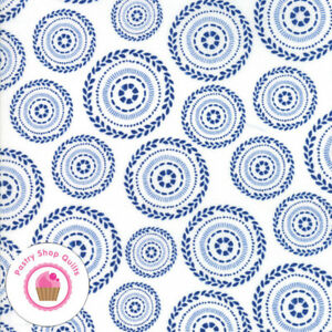 Moda SWEET TEA 5723 25 Denim Navy Blue Polka Dots SWEETWATER Quilt Fabric