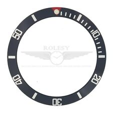 Bezel Insert f/ Rolex Submariner 16610 16800 Double Red Triangle Marker Pearl@12