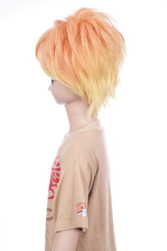 W-635 Diabolik Lovers Sakamaki Shu naranja amarillo Yellow 32cm cosplay peluca wig