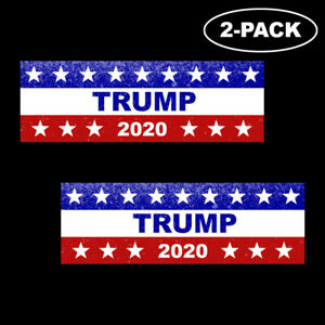 TRUMP-2020-Red-White-Blue-Bumper-Sticker-Decal-Political-Republican-USA-MAGA