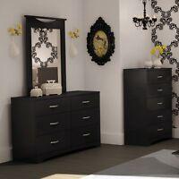 Step One 6-drawer Dresser - Black, Dresser + Mirror