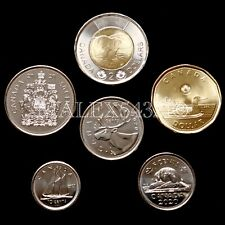 ?????CANADA 2020 COMPLETE COIN SET 5 CENTS TO 2 DOLLARS UNCIRCULATED (6 COINS)