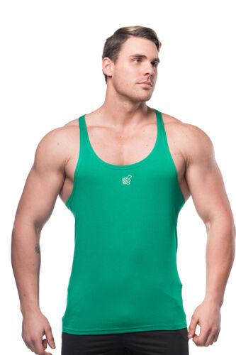 Mens Bodybuilding Stringer Tank Top Gym Singlet Y-Back Muscle Racer-back