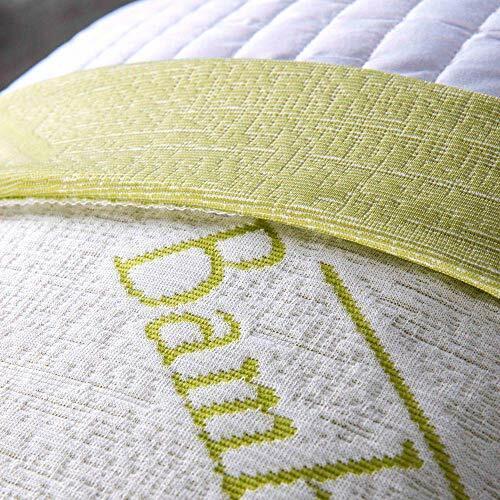 Guanciali Cuscini Letto Fiocco Memory Foam con Fodera fibra di BAMBOO 42x72 H15