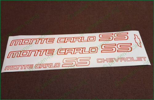 CHEVROLET Monte Carlo SS 1985-1986 Logo Premium Restoration Decals Stickers Set