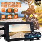 4'' Full HD LCD Dual 1080P 140° Motorcycle Dash Cam Camera Video Recorder US `.