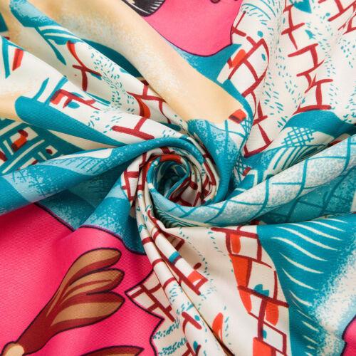 """Women/'s Vintage Big Scarf Fashion Zoo Print Square Head Shawl Hijab 51/""""*51/"""""""