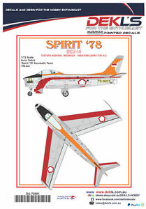 Decals-Avon-Sabre-TNI-AU-Aerobatic-Team-039-Spirit-78-039-1-72-Scale