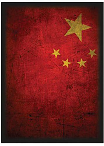 100ct Max Pro Standard Size MTG Deck Shuffle-Tech Sleeves CHINA Flag