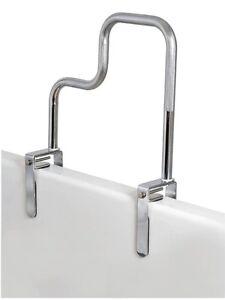tri grip bathtub safety rail carex grab bar tub chrome  bathroom  ebay