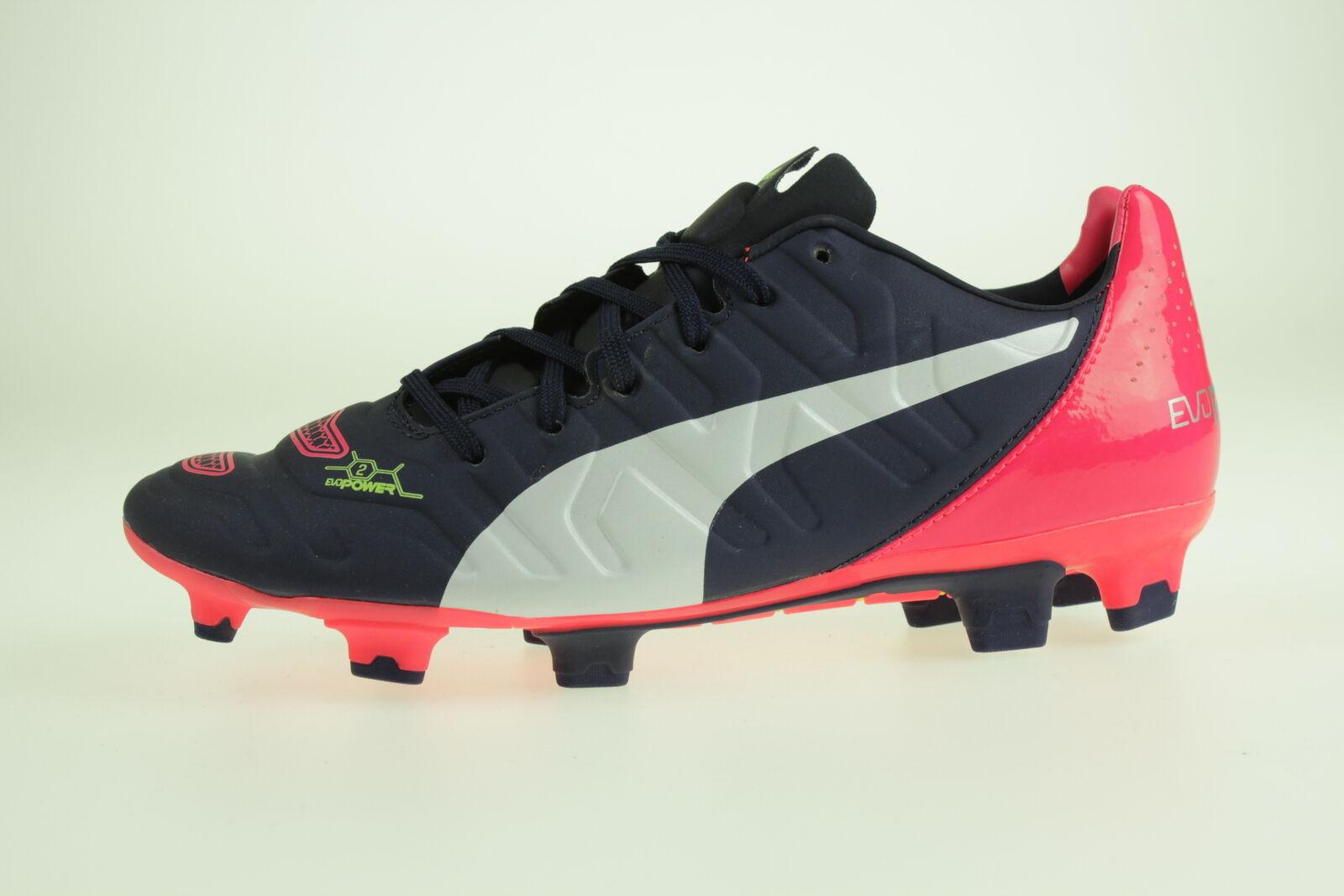 Puma evoPower 2.2 FG Gr 40,5 Fußballschuhe Soccer 103211 01 blue