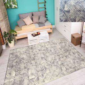 Wollteppich alfombra 100% lana virgen diseño moderno antracita 4 tamaños salón