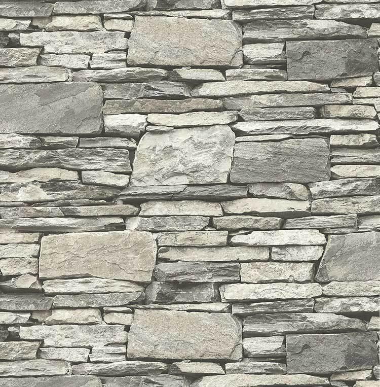 Tapete, Designtapete, 3D, Steinmauerprint, Saphir, Ytong, Grau, Eierschale, Sand