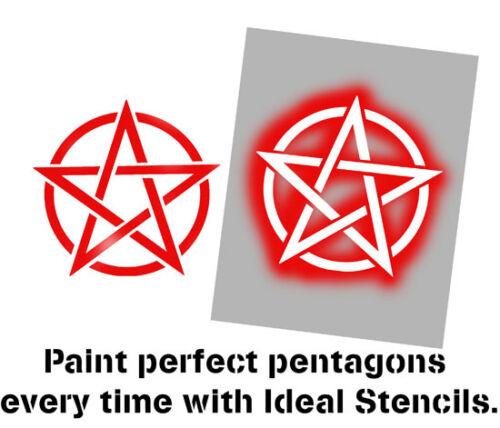 pentagram star stencil symbol Reusable Art Craft Paint Wall Decor Ideal Stencils