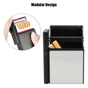 Men-Cigarette-Holder-Case-Box-With-Windproof-Removable-USB-Charging-lighter