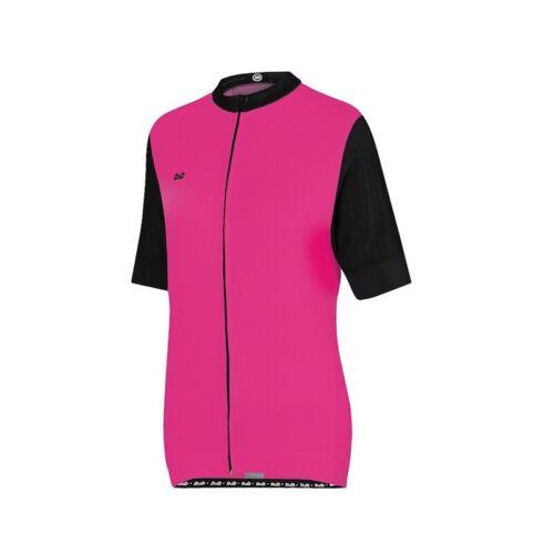 Grey blanc D2D femme x1 Manches Courtes Maillot De Cyclisme orange et rose//fuchsia