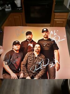 Music Davisson Brothers Band Country Musicians Signed 8x10 Photo With A Long Standing Reputation
