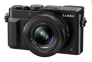Panasonic-Lumix-LX100-Nera-2Gb-scheda-SD-nuova-Flash-4-Batterie-totali-Custodia
