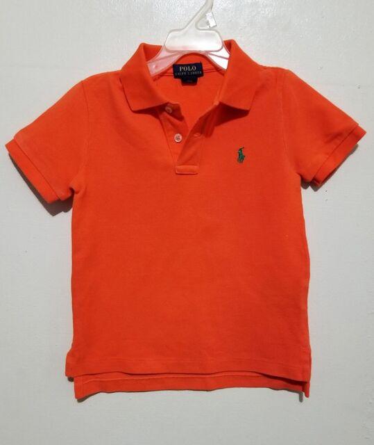 51fb43a62 Polo Ralph Lauren Toddler Boys Polo Shirt Short Sleeve Orange Size 4 ...