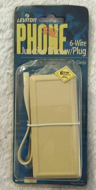 Leviton Telephone Wire Junction Box 6-Wire Ivory C2618-I