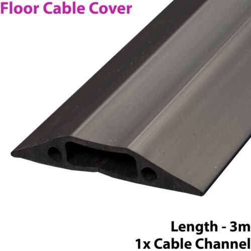 3m x 68mm Heavy Duty Rubber Floor Cable Cover Protector-Conduit Tunnel Sleeve