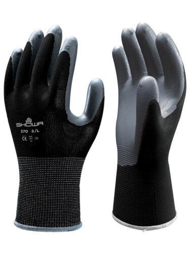 Showa 370 Leicht Flexibel Präzision Montage Griff Handschuhe Nitril Palm Schwarz