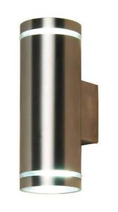 Doux Moderne Acier Inoxydable Double Outdoor Wall Light Up And Down + Del 6 W Lampe Ampoules-afficher Le Titre D'origine Artisanat Exquis;