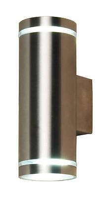 Intenzionale Muro Fino Giù Luce Gu10 Led In Acciaio Inox Da Giardino Moderno Lampada Lampadine Inc- Per Soddisfare La Convenienza Delle Persone