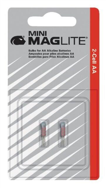 Maglite LM2A001 Mini Xenon Replacement Lamp For Flashlight Bi-Pin 2 Pack