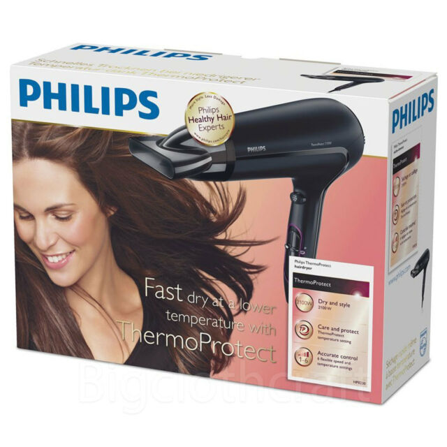 Philips HP8230 Thermo Protect Hair Dryer Black  220V, 2100W