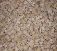 100 Round 3/4 Wood Knobs Unfinished Birch Pulls Cabinet Handles W/ Screws