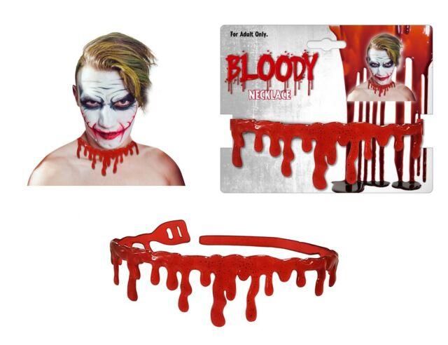 Halloween tropft Blut Halsband Blut Tropf Halskette Gothic Horror gruselig Erwachsene